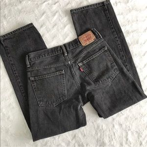 Levi's 550 Relaxed Fit Gray Wash 100% Cotton 28x28